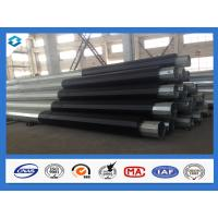 Quality Q420 5mm Thick 60Ft 70Ft Hot Dip Galvanized Electric Power Steel Poles wholesale