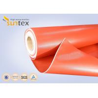 Quality Heat Resistant 550C Thermal Insulation Fabric / Silicone Rubber Coated Fiberglass Cloth wholesale