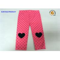 Quality Knee Heart Applique Cute Baby Girl Leggings Heart Printed Lycra Jersey Pant wholesale