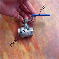 Cheap Stainless Steel Threaded 2PC Ball Valve (Lock Device) for sale