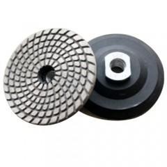 China Metal Bond Flexible Diamond Polishing Pads , Granite Polishing Pads For Hard Materials on sale