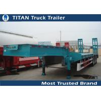 Quality 50 Tons low loader 3 axle drop deck Low Bed Trailer for vessels , boats , combine harvesters wholesale