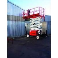 China industrial safety self propelled mast climbing platform / work platform lifting height 12m on sale