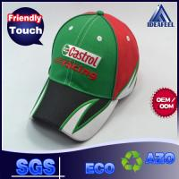 Quality Embroidery Raised Logo Unisex Baseball Caps For Outdoor Racing 6 Panels wholesale