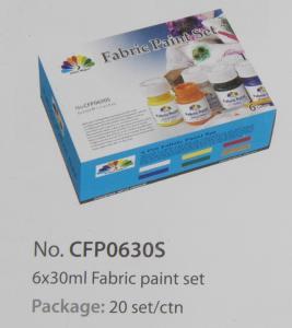 Quality Washable Art Painting Colours Fabric Paint Set For Kids 6 X 30ml 6 Colors Per Set wholesale
