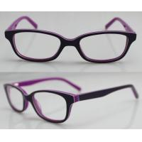 Quality Purple / Orange Hand Made Kids Eyeglasses Frames , Eye Spectacles Frames wholesale
