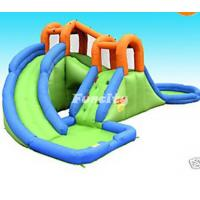 Quality Combo Long Slide Inflatable Slide Pool With Roof Bouncer House For Sale wholesale