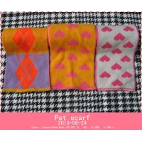 Cheap Pet jacquard scarf for sale