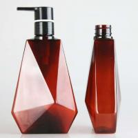 Cheap Guangzhou 400ml 700ml Amber Plastic Pet Shampoo and Shower Gel Bottle for sale