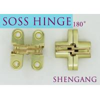 "Quality Satin Brass Soss Stainless Steel Concealed Hinges , Wings measure 3/8"" Wide x 1-11/16"" Long for 1/2"" , SOSS #101 wholesale"