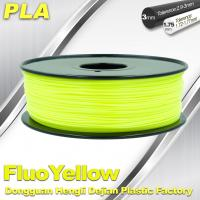 Quality PLA Fluo-Yellow 3D Printer Fluorescent Filament  Materials 1.75 / 3.0mm wholesale