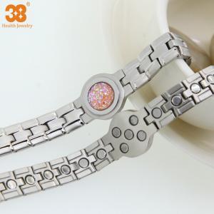 Quality Stianless Steel Silver Plate Fashion Bracelet 2016 Bracelet,5 in 1 Bio Element wholesale