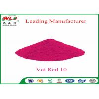 Quality Textile Dyeing Chemicals C I Vat Red 10 Vat Red Fbb Good Water Diffusion wholesale