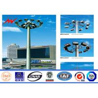 China High strength Anti-corrosion Coating High Mast Pole with 400w HPS lights on sale
