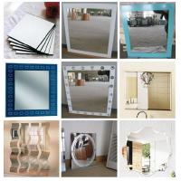 Quality Rectangular , Square , Round custom glass mirror sheet for household , shops wholesale