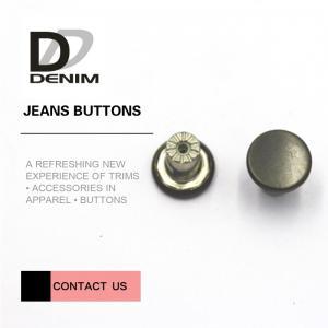 Quality Washable Metal Clothing Buttons Bulk High Class Garment