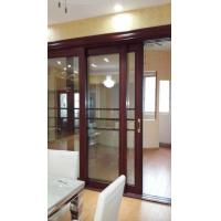 Quality Living Room Wood Aluminium Interior Sliding Doors Double Tempered Glass With Louver wholesale
