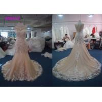 Quality Lovely Lace Multi Colored Wedding Gowns Column Embroidered Celebrity Mermaid wholesale