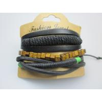 Quality Braid Polyester Cord Leather Bracelet In YiWu Purchase Fashion Jewelry wholesale