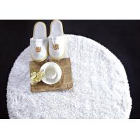 Quality Washable White Waffle Disposable Spa Slippers , Disposable Hotel Bathroom / Guest House Slippers  wholesale