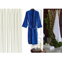 Quality Colored Luxury Hotel Patterned Toweling Bath Robe , Womens Luxury Dressing Gown wholesale