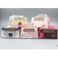 Quality Food Grade Paper Cake Boxes With Handles And Window 5 Styles Can Pack 8 Cakes wholesale