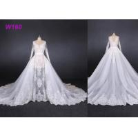 Quality Perspective Fantasy Bride Female Wedding Dress High End Detached Tail wholesale
