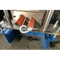 China Galvanized Sheet Gutter Roll Forming Machine For Roof Cap , Metal Ridge on sale