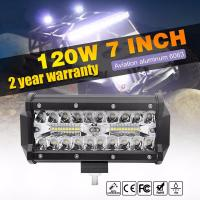 Quality 7inch 120W Auto LED Light Bar Waterproof Truck SUV 4X4 Offroad LED Work Light Bar wholesale
