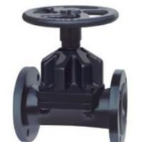 Quality PN16/CL150 Flanged RF DI/CI GG25/A126 B/WCB EPDM/NR Rubber Lined Straight Through Diaphragm Valve / Saunders KB Type wholesale