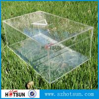 Cheap High quality custom clear acrylic shoe box wholesale,Crystal Clear Acrylic Shoe Display Case / Perspex Shoes Box for sale