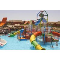 Quality Small Colorful Water Playground Equipment Enclosed Slide For Kids And Water Park wholesale