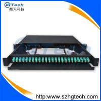 Quality Sliding Type 1u 19inch LC 24 Port Fiber Optic Patch Panel wholesale