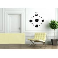 Quality Novelty Design Create Wall Decal Clock DIY For Home Decrative wholesale