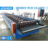 Quality Galvanized Steel Deck Roofing Sheet Roll Forming Machine with Chain Transmission wholesale