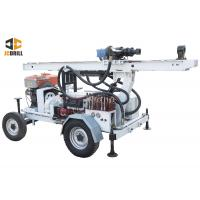 China 24kw Engine Power Small Portable Water Well Drilling Rig Dth Drilling Machine on sale