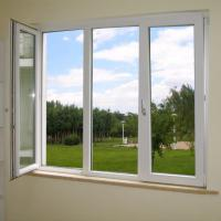 Cheap Powder Coating UPVC Window And Door With 4mm Glass Sheet for sale