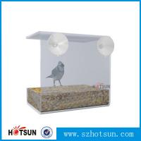 Quality Wholesale 2016 Custom Hanging Bird Water Feeder,Grateful Gnome Window Brid Feeder,Acrylic Clear wholesale