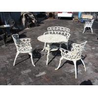 Quality Aluminum / Cast Iron Bistro Table And Chairs Decorative Customized Size wholesale