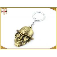 Quality Brass Plated Metal Key Ring , Customised Key Chains With Free Laser Engraved Logo wholesale