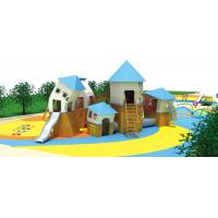 China Outdoor Backyard Waterproof Children House Garden Child Wood Play House Kids Wooden Playhouse With Slides for sale