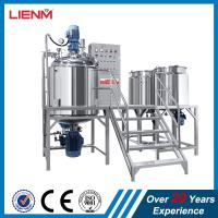 China Top and bottom homogenizer vacuum emulsifying mixer machine ointment emulsifying machine on sale
