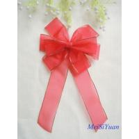 Quality Gold Edge wired Christmas ribbon bows / ribbon christmas wreath 30cm OEM / ODM Available wholesale