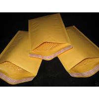 Cheap Good quality Yellow Kraft Bubble Mailers wholesale in China for sale
