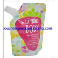 Quality Stand up pouch with spout for Beverage, Spout Pouch For Fruit Juice Packing wholesale