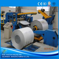 China Galvanised Steel Sheet Slitter Cutter Machine With Circular Knife Blade PLC Control on sale