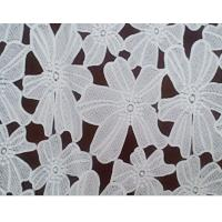 Quality factory supplying fashion printed lace fabric for garments wholesale