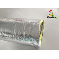 China Air Ventilation Flexible HVAC Duct Insulation Wrap Aluminum Foil With Glass Wool on sale