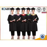 Quality wholesale graduation gowns and mortar board black gowns from China clothing factory wholesale