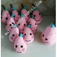 Quality Factory Custom OEM High Quality Hand Knit Crochet Cotton Baby Pet  Animal Kid Toys and Dolls  DIY Fruit Toy wholesale